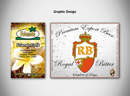 Graphic design and Print, Kingdom of Tonga