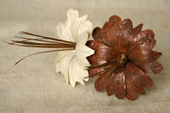 Example Tongan tapa flower by Touch of Tonga
